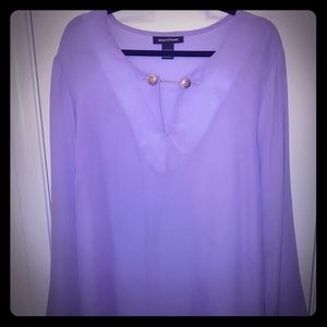 Purple sheer shirt with lining